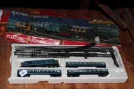 Hornby electric train set (no transformer).