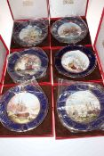 Collection of six Spode Maritime England plates, limited edition, boxed and with certificates.