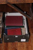 Collection of schoolboy worldwide stamp albums including Siam, China, USA perfins/ printed states,