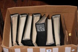Seven volumes 'History of the Second World War'.