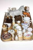 Beswick horses and foals, Derby posies, mug, vases and dishes, Worcester miniature tyg,