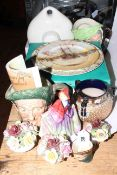 Collection of Royal Doulton including character jugs, Sweet Anne figurine HN1331, hot water bottle,