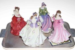 Four Royal Doulton ladies, Lauren, Sweet Lilac, Specially For You and Joy.