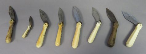 ˜EIGHT INDIAN CHETTIAH PALM LEAF SCRIBES KNIVES, TAMIL NADU, LATE 19TH/EARLY 20TH CENTURY