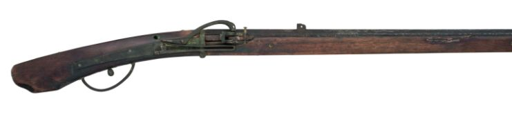 A 25 BORE JAPANESE SNAP MATCHLOCK MUSKET, EDO PERIOD, 19TH CENTURY