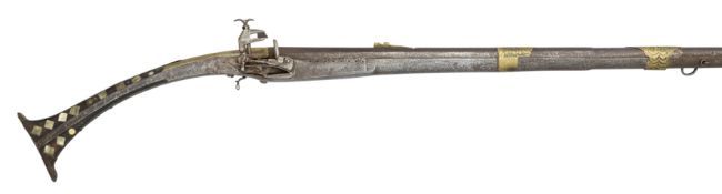 A 14 BORE ALBANIAN MIQUELET-LOCK MUSKET, SECOND QUARTER OF THE 19TH CENTURY