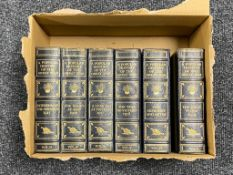 A box of six leather bound volumes - Popular History of the Great War