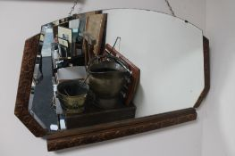 A 1930's bevelled mirror