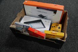 A box containing Nintendo game boy yellow, Super Mario Land and Mario Land II,