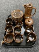 A twenty-three piece Wedgwood Pennine oven to table tea service