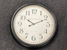 A battery operated French style wall clock