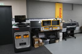 The contents of a photographic printing business to include - Apex 30 inch systems,