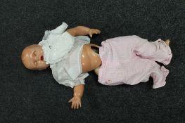 A vintage plastic doll