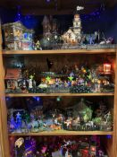 An incredible very impressive and extensive collection of Department 56 Snow Globe Village