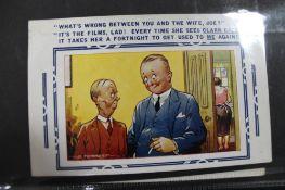 An album of twenty two British humorous postcards