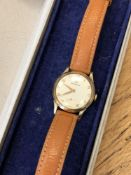 A gent's 9ct gold wristwatch signed Rodania CONDITION REPORT: In going order.