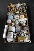 Three boxes of Ringtons china, West German jar, assorted tea china,