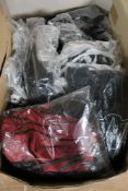 A box of Phaze gypsy dresses and tudor cross vests