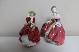 Two Royal Doulton figures Southern Belle HN 2229 and Top o' the Hill HN 1834