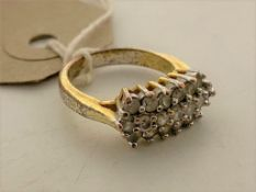 A diamante costume ring