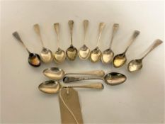 A set of twelve silver teaspoons,