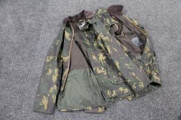 Two Barbour Bedale camouflage wax jackets