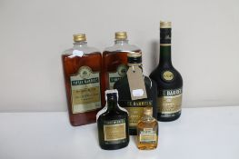 Four bottles of Three Barrels French Brandy together with two further Three Barrels miniatures (6)