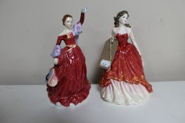 Two Royal Doulton figures Special Occasion HN 4100 and Fond Farewell HN 3815