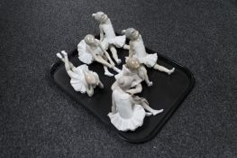 A tray of six Nao Ballerinas (a/f)