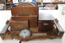 A box of barometer, wooden boxes,