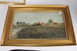 A 19th century oil painting 'The Windy Hill'