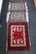 Four eastern rugs