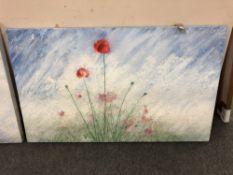 Royden Astrop, Poppies, oil on canvas,