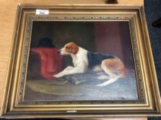 19th century school, hunting dog, oil on canvas CONDITION REPORT: 29cm by 24cm.