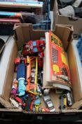 A box of vintage Meccano magazines,