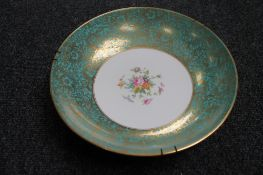 A Minton hand painted china bowl