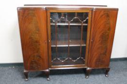 A mid 20th century glazed mahogany china cabinet
