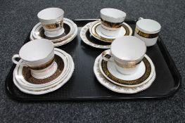 A tray of Aynsley tea china
