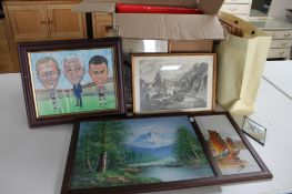 A box of a large quantity of pictures,
