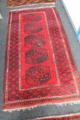 An Afghan Bokhara rug,
