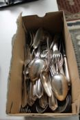 A quantity of silver plated cutlery