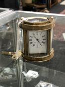 A French miniature carriage clock