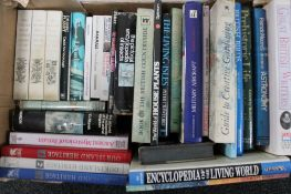 A box of hardback books - astronomy,