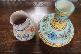 A Poole pottery vase and one further vase