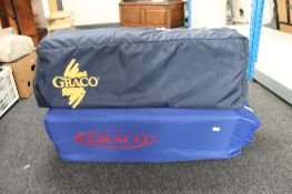 Two folding portable cots