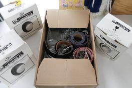 A box of decorative belts,