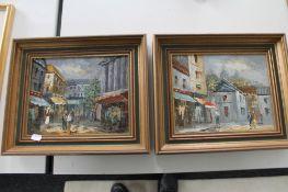 Two oil paintings signed Burnett,