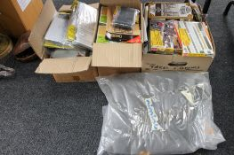 Three boxes containing model railway items to include HO gauge items,