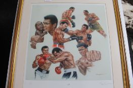After Peter Deighan - Ali, limited edition colour print, signed by the artist,