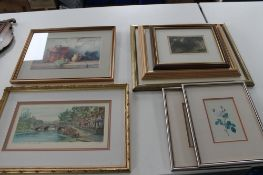 A quantity of pictures, watercolour drawing of the Tyne Bridge,